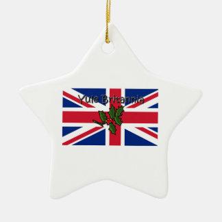 Ornement Étoile En Céramique Noël Britannia