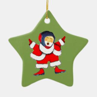 Ornement Étoile En Céramique Noël de lutte