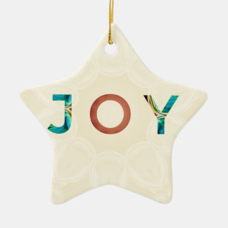 Ornement Étoile En Céramique Noël moderne 'Joy d'arrière - plan crème