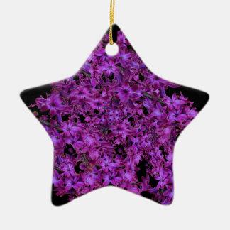 Ornement Étoile En Céramique Noir de jacinthe d'abrégé sur pourpre d'améthyste