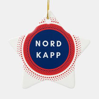 Ornement Étoile En Céramique Nordkapp Norvège