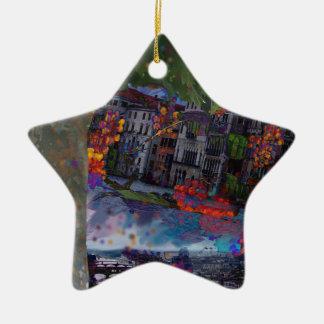Ornement Étoile En Céramique Nuit de Noël