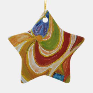 Ornement Étoile En Céramique Oasis des couleurs