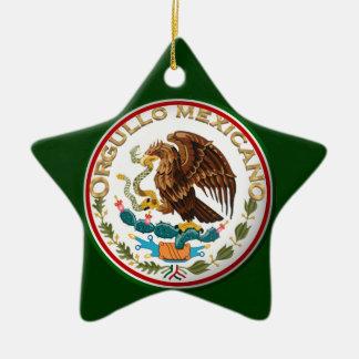 Ornement Étoile En Céramique Orgullo Mexicano (Eagle de drapeau mexicain)