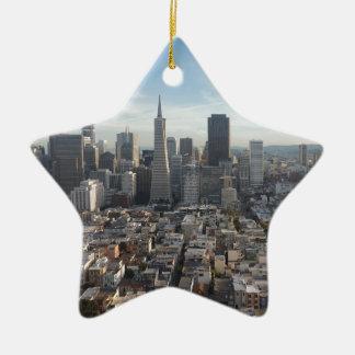 Ornement Étoile En Céramique Panorama d'horizon de San Francisco