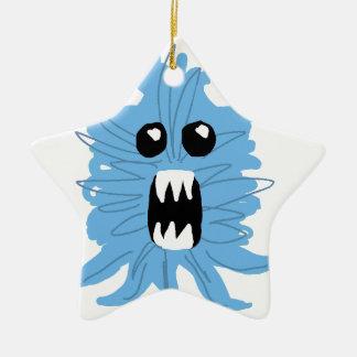 Ornement Étoile En Céramique Papier d'emballage de monstre bleu