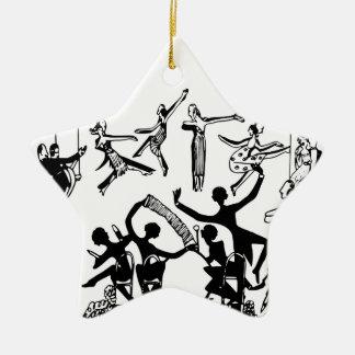 Ornement Étoile En Céramique Partie animée avec la danse