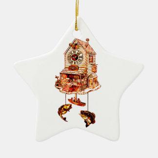 Ornement Étoile En Céramique Pêche de l'horloge de coucou de loge
