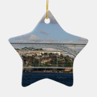 Ornement Étoile En Céramique Pont des DOM Luis I, Porto, Portugal