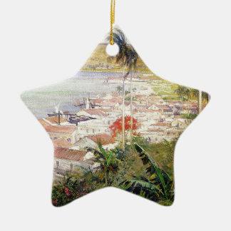 Ornement Étoile En Céramique Port de La Havane