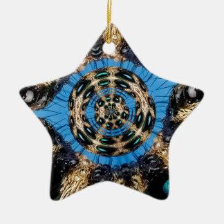 Ornement Étoile En Céramique Portail psychédélique d'araignée