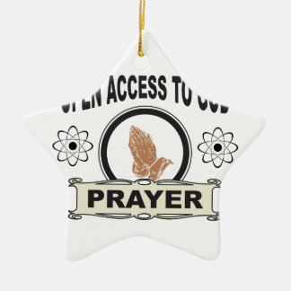 Ornement Étoile En Céramique prière d'accès ouvert