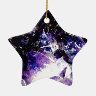 Ornement Étoile En Céramique Produits d'améthyste par des voyageurs de bonheur