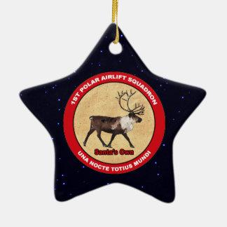 Ornement Étoile En Céramique Propres de Père Noël - ęr escadron polaire de