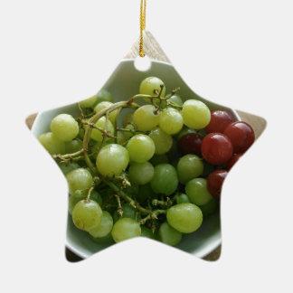 Ornement Étoile En Céramique raisins