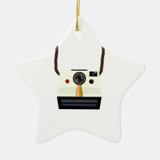 Ornement Étoile En Céramique rétro appareil-photo avec la courroie
