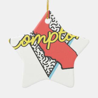 Ornement Étoile En Céramique Rétro souvenir de Compton la Californie