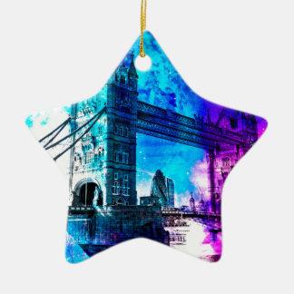 Ornement Étoile En Céramique Rêves de Londres du ciel de la création