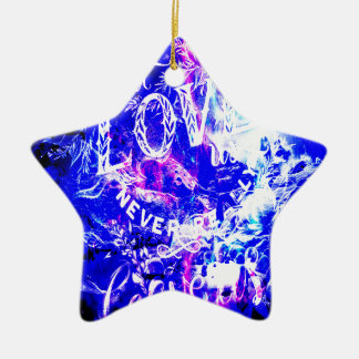 Ornement Étoile En Céramique Rêves de Noël d'améthyste de ceux qui nous aiment