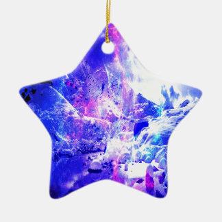 Ornement Étoile En Céramique Rêves de nuit de Noël d'améthyste