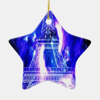 Ornement Étoile En Céramique Rêves de Paris de saphir d'améthyste