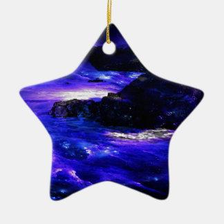 Ornement Étoile En Céramique Rêves d'Indien de saphir d'améthyste