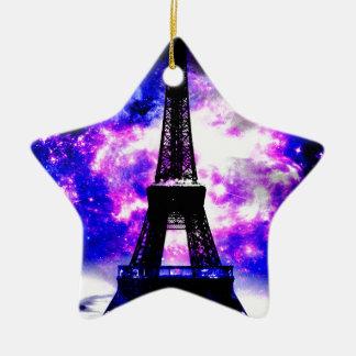 Ornement Étoile En Céramique Rêves parisiens de rose d'améthyste