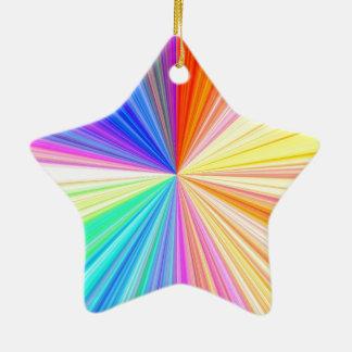 Ornement Étoile En Céramique Roue de couleur ART101