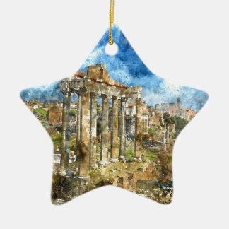 Ornement Étoile En Céramique Ruines à Rome