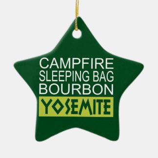 Ornement Étoile En Céramique Sac de couchage de feu de camp Bourbon Yosemite