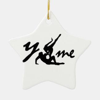 Ornement Étoile En Céramique saint valentin you and me