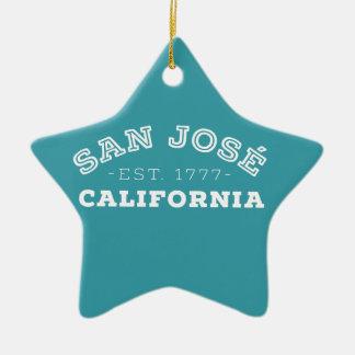 Ornement Étoile En Céramique San Jose la Californie