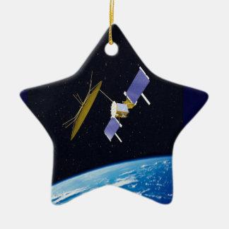 Ornement Étoile En Céramique Satellite