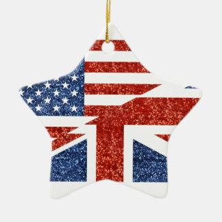 Ornement Étoile En Céramique scintillement Etats-Unis britannique