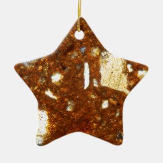 Ornement Étoile En Céramique Section mince d'une brique sous le microscope