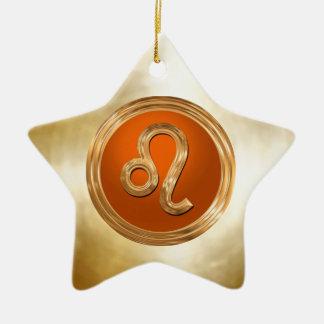 Ornement Étoile En Céramique Signe de zodiaque de Lion