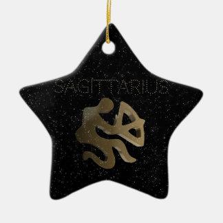 Ornement Étoile En Céramique Signe d'or de Sagittaire