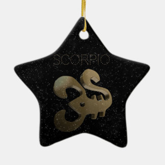 Ornement Étoile En Céramique Signe d'or de Scorpion