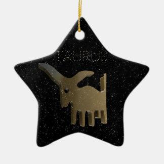 Ornement Étoile En Céramique Signe d'or de Taureau