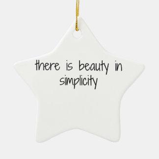 Ornement Étoile En Céramique Simplicité