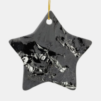 Ornement Étoile En Céramique Surface des cristaux purs de silicium