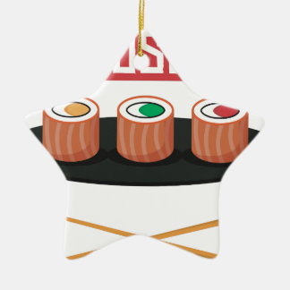 Ornement Étoile En Céramique Sushi
