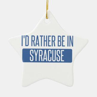Ornement Étoile En Céramique Syracuse