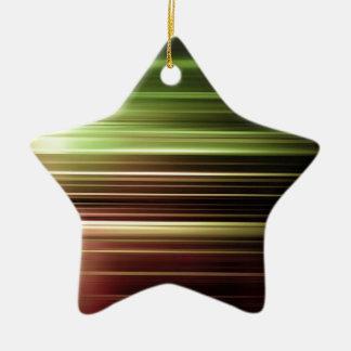 Ornement Étoile En Céramique Tache floue verte de vitesse