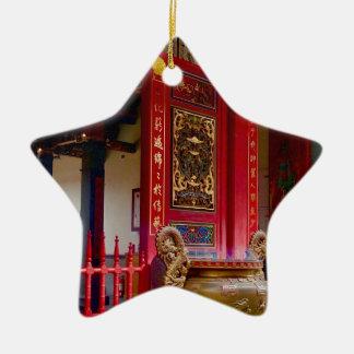 Ornement Étoile En Céramique Temple dans Yilan, Taïwan