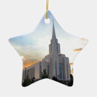 Ornement Étoile En Céramique Temple mormon de l'Utah de montagne de LDS Oquirrh