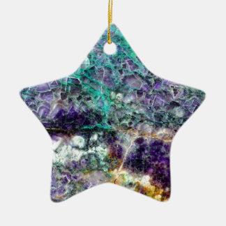 Ornement Étoile En Céramique texture en pierre 4.JPG d'améthyste