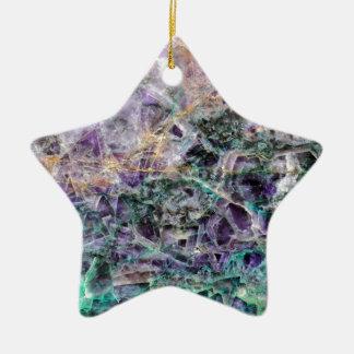 Ornement Étoile En Céramique texture en pierre d'améthyste