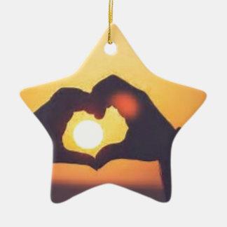 Ornement Étoile En Céramique Th
