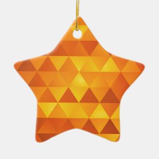 Ornement Étoile En Céramique Triangles jaunes abstraites
